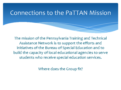 Connections to the PaTTAN Mission