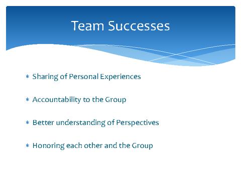 Team Successes
