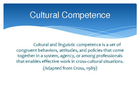 cultural competence Standards for cultural competence in social work practice 3 introduction the newfoundland and labrador association of social workers (nlasw) is the regulatory body.