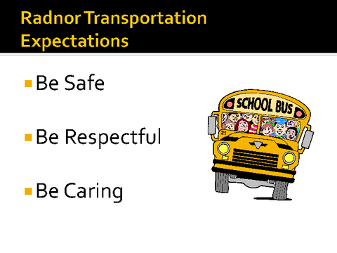 radnor transportation expectations