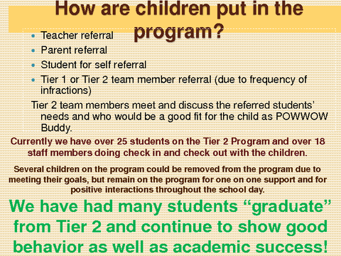How are children put in the program?