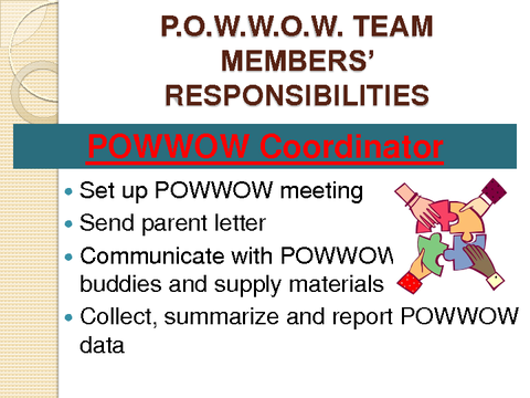 P.O.W.W.O.W. TEAM MEMBERS' RESPONSIBILITIES
