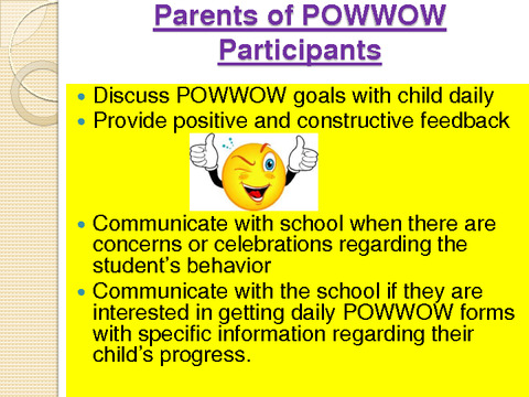 Parents of POWWOW Participants