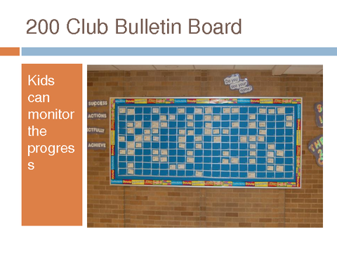 200 club bulletin board