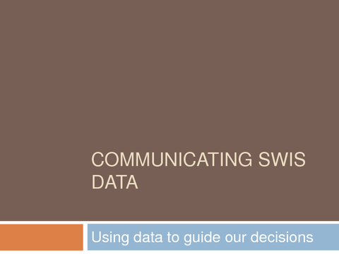 communicating swis data