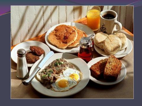 [photograph: breakfast table]