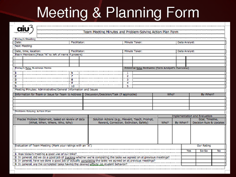 Meeting & Planning Form [image: form]