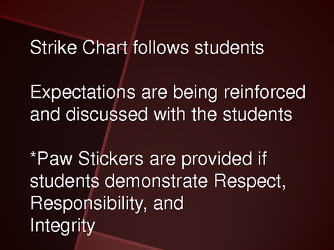 Strike Chart follows students