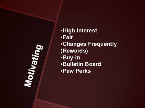 Motivating High Interest Fair Changes Frequently Buy-In Bulletin Board Paw Perks