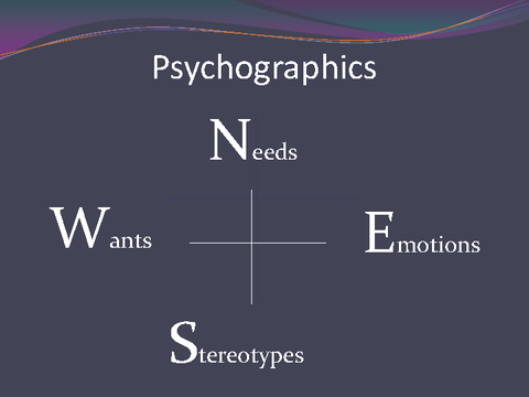 Psychographics Needs Wants Emotions Stereotypes