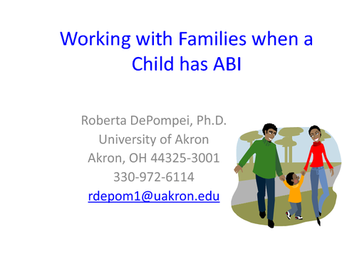 Working with Families when a Child has ABI