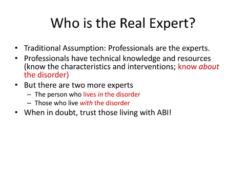 Who is the Real Expert?