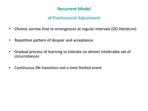 Recurrent Model of Psychosocial Adjustment