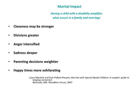 Marital Impact