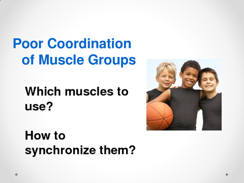 Poor Coordination of Muscle Groups