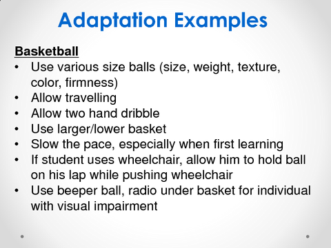 Adaptation Examples