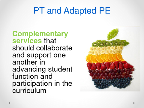 PT and Adapted PE