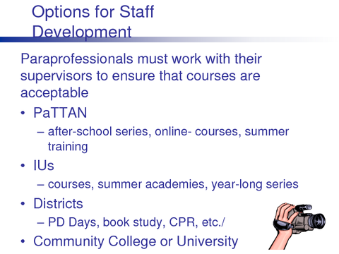 Options for Staff Development