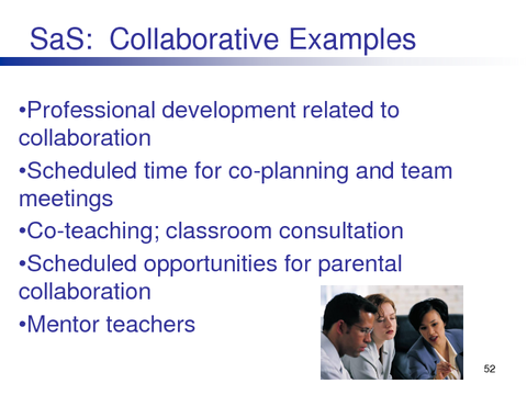 SaS: Collaborative Examples