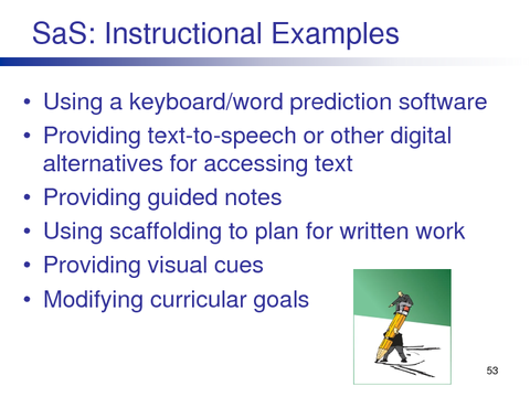 SaS: Instructional Examples