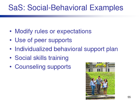 SaS: Social-Behavioral Examples