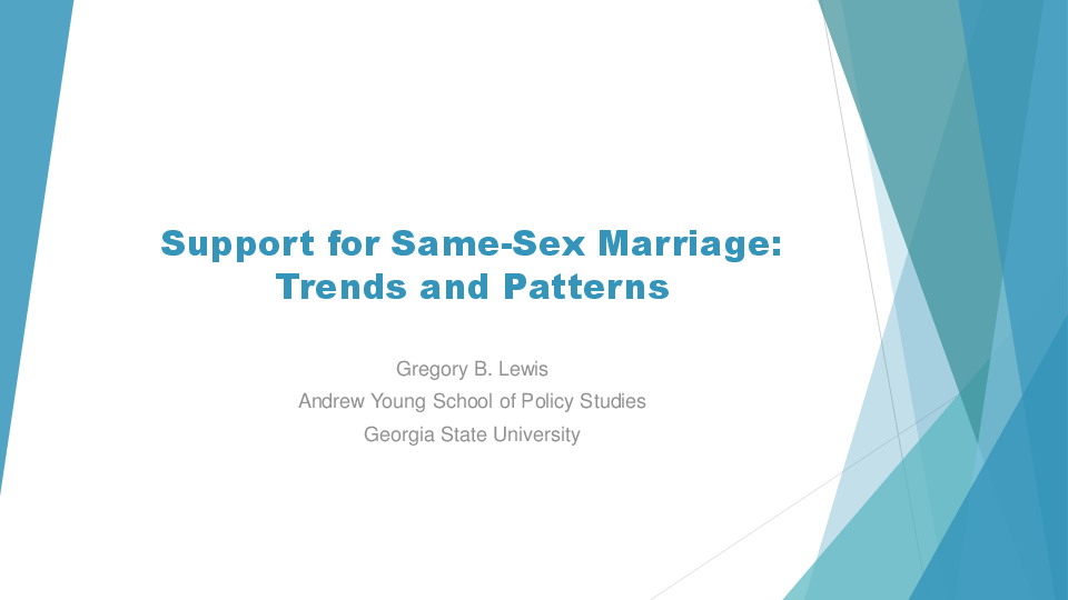 same sex marriage and public opinion essay
