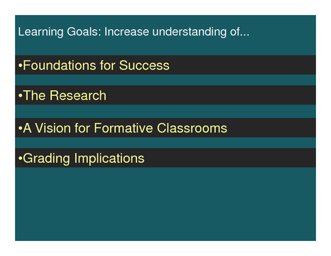 Learning Goals: Increase understanding of...